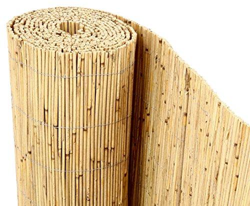 bambus-discount.com Schilfrohrmatten Premium Beach, 200 hoch x 600cm breit, EIN Produkt Sichtschutz Matten…