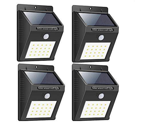 Groeien 1200 Watts LED Night Light, Black, Round,Pack of 4