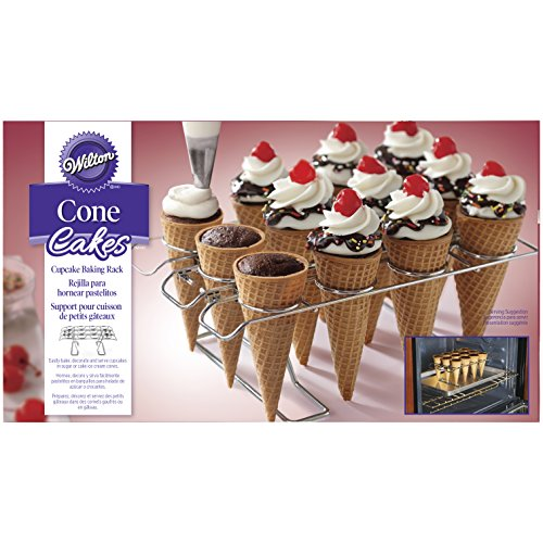 How to make ice cream cone cupcakes gluten free with Wilton 2105-4820 Cupcake Cone Baking Rack