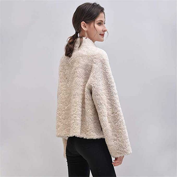 HIMABeauty Cappotto Invernale Cashmere Donna, Tosatura Ovina