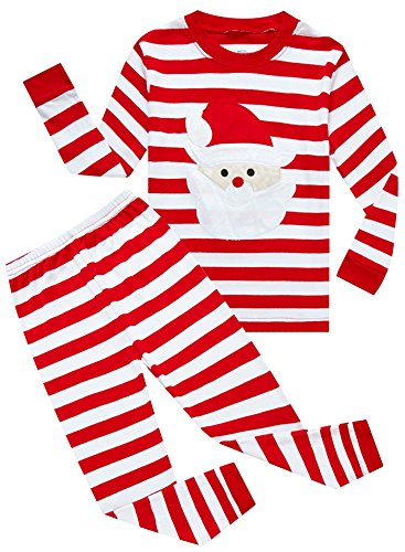IF Pajamas Little Boys Girls' Santa Claus Christmas Cotton Long Sleeve Pajama Set Pjs 5 (Christmas Boy Pajamas)