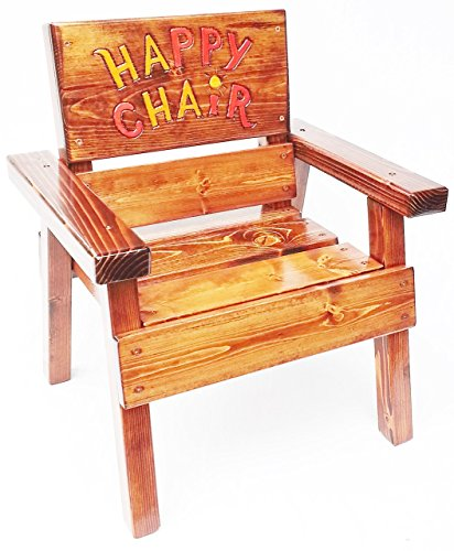 Kids Happy Chair, Indoor / Outdoor, Engraved and Painted