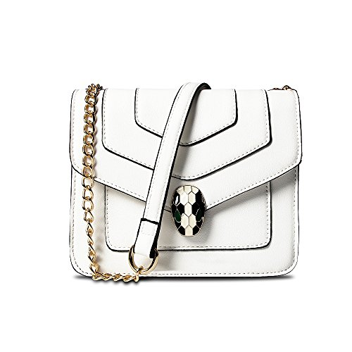 Chain Shoulder Bag Pu Leather Snake Handbags Bag White Fashion Women for Designer Crossbody Balence Small 4wZEUE