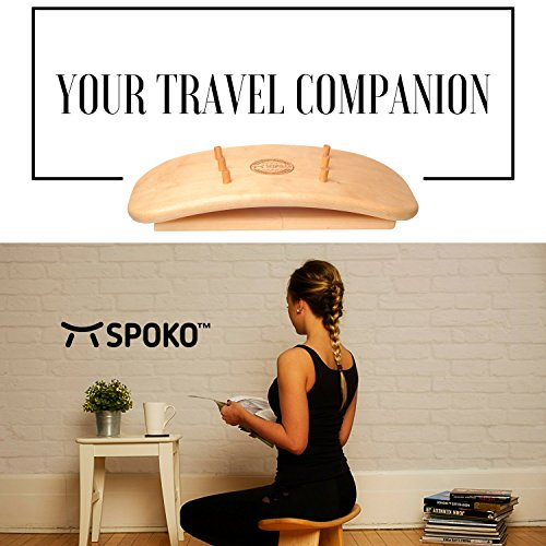SPOKO Meditation Bench, The Original Kneeling Stool, Posture Certified, Best Chair, Low Seat for Meditations, Yoga, Prayer, Seiza and Kids, No Cushion, Mat, or Pillow Needed , Peace and Happiness by SPOKO (Image #5)