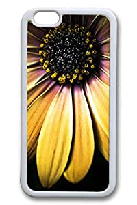 Brian114 6 plus Case, iPhone 6 plus Case - Scratch-Resistant Protective Case for iPhone 6 Plus Yellow Flower Macro Perfect Fit White Soft Rubber Case for iPhone Plus 5.5 Inches