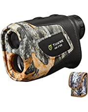 TideWe Hunting Rangefinder with Rechargeable Battery, 700/1000Y Camo Laser Range Finder 6X Magnification, Distance/Angle/Speed/Scan Multi Functional Waterproof Rangefinder with Case