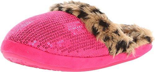 (M&F Western Women's Sequin Slide Slipper Hot Pink Large M)