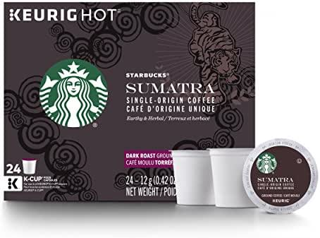 Starbucks Sumatra Dark Roast Single Cup Coffee for Keurig Brewers, 4 Boxes of 24 (96 Total K-Cup Pods)