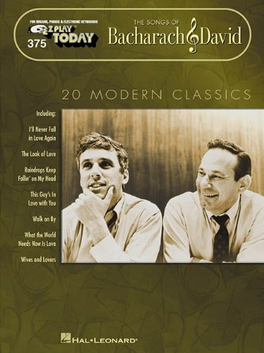 The Songs of Bacharach & David: E-Z Play Today Volume 375
