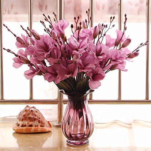 Kim Vase - LighSCH Artificial Flowers Fake Bouquet Dried Flower Flowers Glass Vases Kim Ho Pink