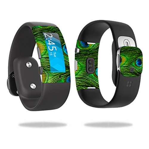 Skin Decal Wrap for Microsoft Band 2 sticker Peacock Feathers