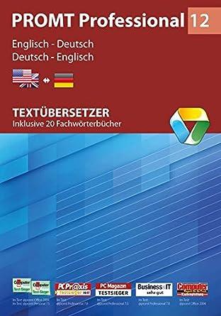 PROMT Professional 12 Englisch-Deutsch: Textübersetzer - Inklusive ...