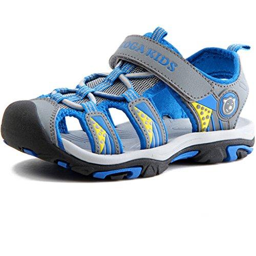 Eagsouni® Kinder Geschlossene Sandalen Outdoor Sport Trekkingsandalen Klettschuhe für Jungen Mädchen Blau
