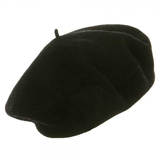 Amazon.com  Wool Beret Black FBA  Clothing b6283969632