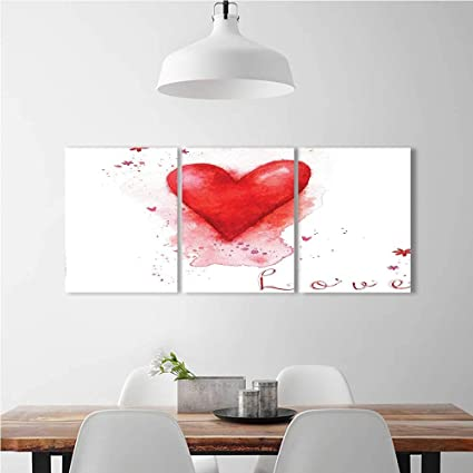 Amazon Com Aolankaili Color 3 Piece Wall Art Painting Frameless