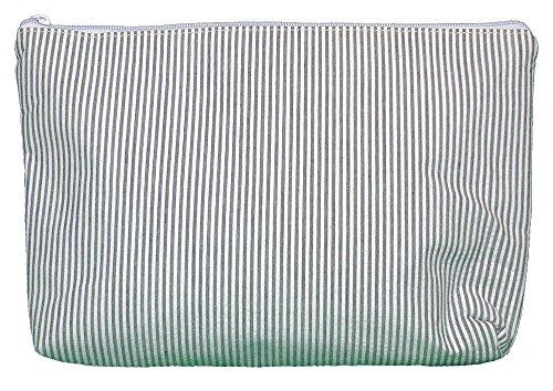 Cosmetic Bag in Seersucker (Gray) by Kute Kiddo