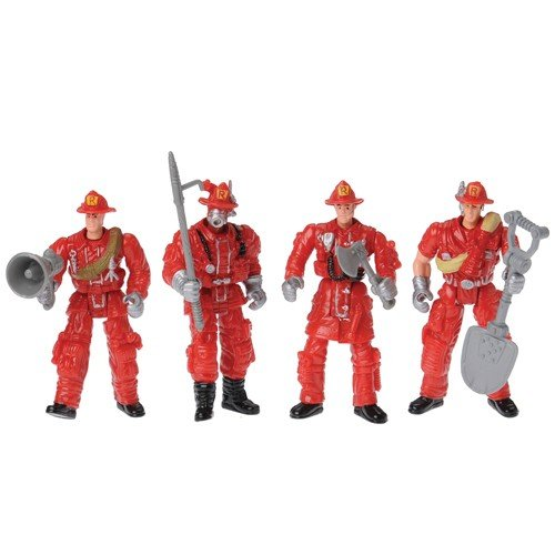 - Lot of 12 Assorted Style Poseable Moveable Firefighter Action Figures