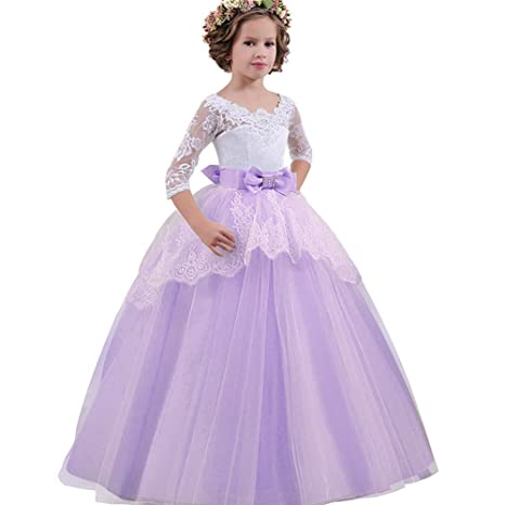 Amazon.com: Tubwair Girls Wedding Dress Princess Pageant ...