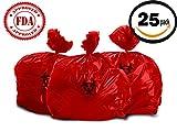 Oakridge Heavy Duty 10 Gallon Biohazard Waste Bags (Roll of 25) - Hospital Grade
