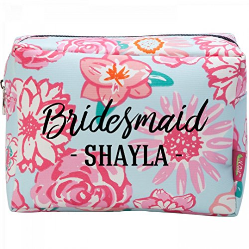 Bridesmaid Proposal Gift Shayla: Patterned Cosmetic Makeup - Makeup Shayla