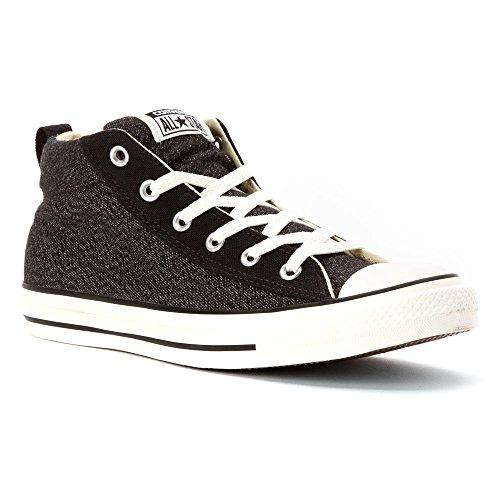 Converse Chuck Taylor All Star Fashion Street zapatilla de deporte mediana de zapatos - Black/Egret