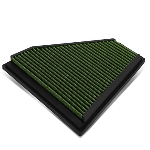 For BMW 325i / 328i Reusable & Washable Replacement High Flow Drop-in Air Filter (Green)