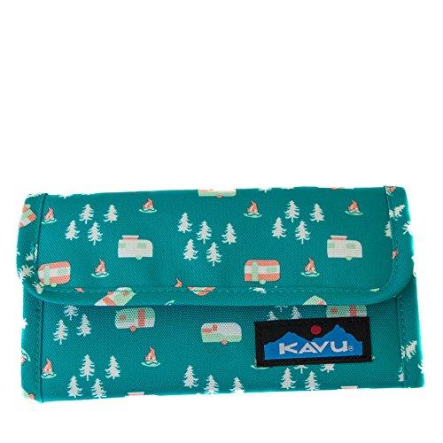 KAVU Mondo Spender Tri-Fold Wallet with Snap Closure - Camp Life by KAVU
