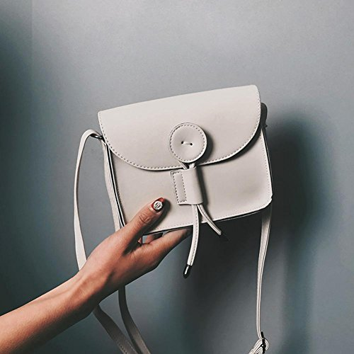 Domybest Bags Coin Purse Phone PU Shoulder White Women Mini Casual Messenger Leather Retro RxwfqRO