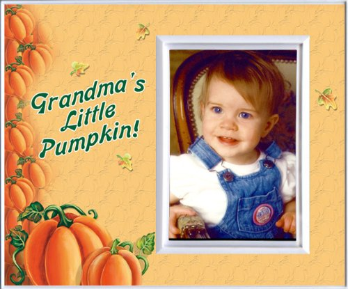 Grandma's Little Pumpkin - Halloween Picture Frame Gift