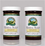Naturessunshine Herbal Sleep Nervous System Support Herbal Combination Supplement 100 Capsules (Pack of 2)