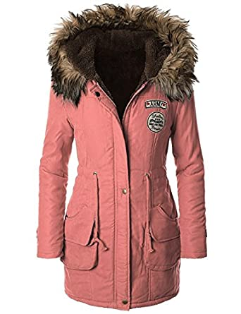 ilovesia womens winter warm military coat parka hooded. Black Bedroom Furniture Sets. Home Design Ideas
