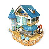 CubicFun Pretty Classic Rural Villa Dollhouse 3D Puzzle Place P635h DIY W/LED Lights and furniture Great Holiday gift
