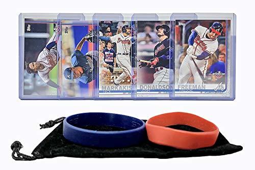 - Atlanta Braves Baseball Cards: Ozzie Albies, Freddie Freeman, Josh Donaldson, Nick Markakis, Julio Teheran ASSORTED Trading Card and Wristbands Bundle