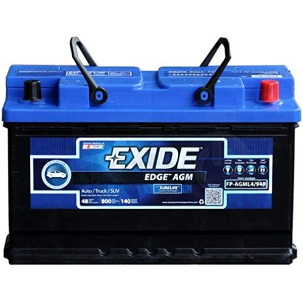 w//SAE Terminals Performance Automotive Battery 150 L-12.36 in H-7.47 in W-6.85 in Odyssey Battery 94R-850 Performance Automotive Battery Group 94R 1500 PHCA 850 CCA 1000 MCA RC Min