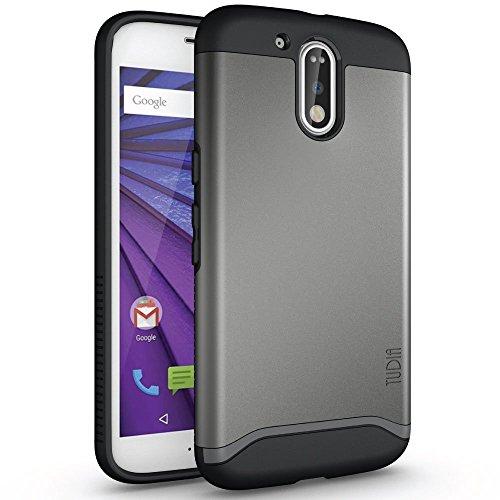 Motorola Moto G4 / G4 Plus Funda, Caja protectora TUDIA Slim-Fit MERGE de doble capa para Motorola Moto G4 / G4 Plus (Negro Mate) Grafito