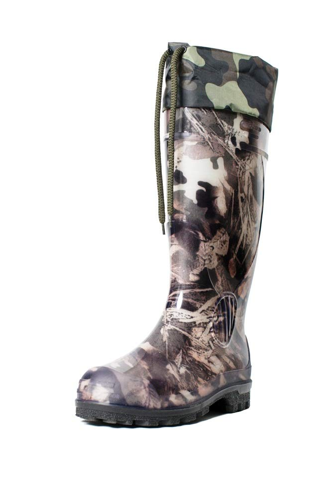 ALS WATER STOP Insulated Hunting Boots for Men - Warmed Rain & Fishing Boots Green by ALS WATER STOP