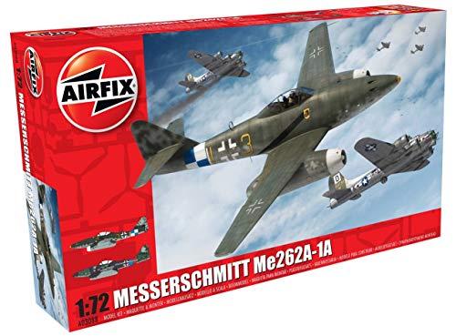 Airfix Messerschmitt Me262A-1A Schwalbe 1:72 Airplane Kit (Me262 Model)