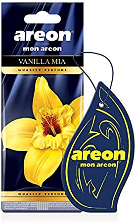 Areon Mon Autoduft Vanille Mia Lufterfrischer Auto Duft Hängend Aufhängen Anhänger Spiegel Vanilla Mia Pack X 1 Auto