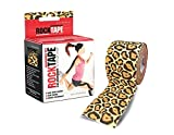 Rocktape Kinesiology Tape for Athletes, Water Resistant, Reduce Pain and Injury Recovery, 180% Elastic Stretch, 1 Roll, 16.4 Feet (Cheetah)
