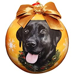 black lab christmas ornament shatter proof ball easy to personalize a perfect gift for black lab - Black Lab Christmas Ornament