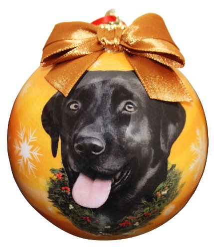 Black Lab Christmas Ornament Shatter Proof Ball Easy To Personalize A Perfect Gift For Black Lab Lovers Black Christmas Holiday Ornaments