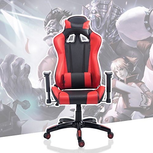 51O6Je5XU4L - Acepro Gaming Chair Executive Swivel Ergonomic Racing Style High Back Office Task Desk Computer Chair with Headrest and Lumbar Support Pillow
