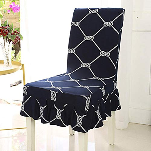 YURASIKU 2PCS Elastic Chair Cover Skirt Side Chair Case Pastoral Polyester Chair Cover for Home Restaurant Dining Room Party Decor ()