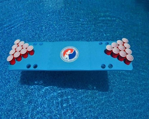 Blue Travel Sized Foam Beer Pong Table by Tailgate Pro's