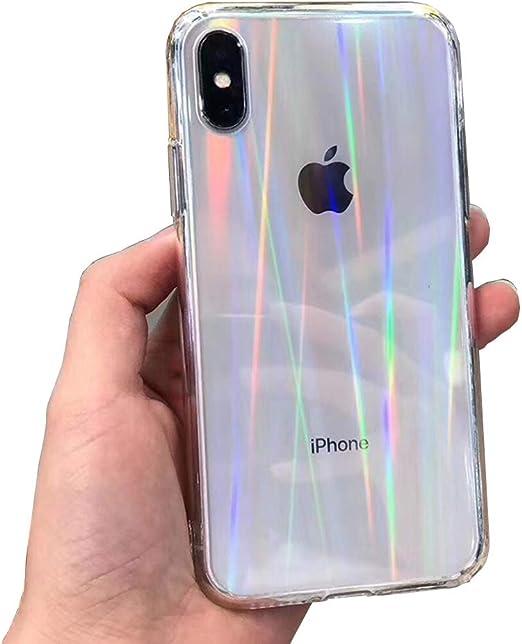 Wxyfl Fundas de Movil del Arco Iris del Gradiente Láser Estuches para iPhone X XS MAX XR Transparentes Fundas para iPhone 11 XR 6 Comprenden 6S 7 8 Plus,Clear,iPhone 7/8plus: Amazon.es: Hogar