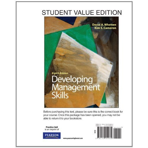 Developing Management Skills, Student Value Edition with MyManagementLab and Pearson eText -- Access Card Package (8th E