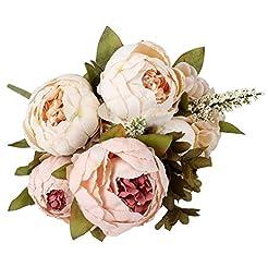 Duovlo Artificial Peony Silk Flowers Fak...