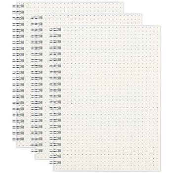 Amazon.com : (2-Pack) A5 Dot Grid Notebook 100gsm Spiral ...