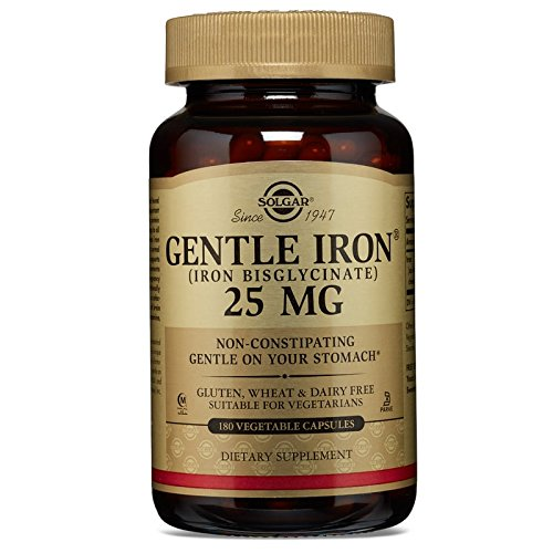 Solgar - Gentle Iron Vegetable Capsules 180 Count, Promotes Red Blood Cell production