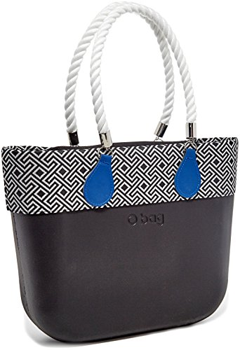 O bag B001_055 Zip, Borsa a Mano Donna, Multicolore (Nero), 14x31x39 cm (W x H x L)